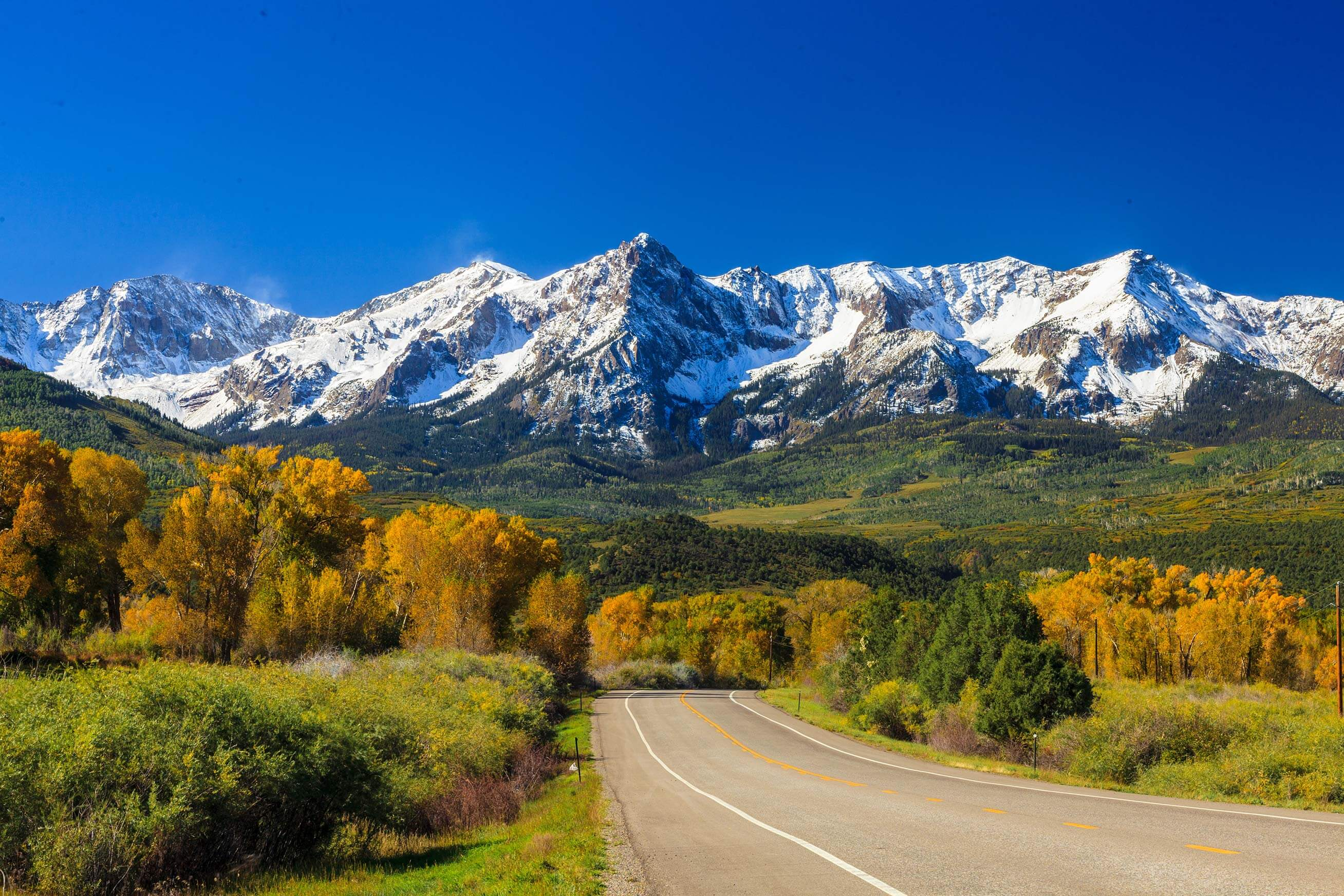 Road Colorado Mountain Ride America Tours Motorcycle